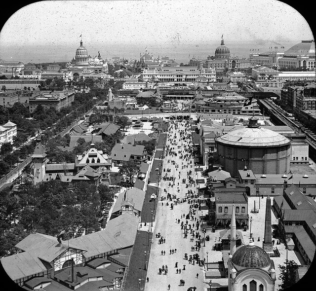 World's Columbian Exposition: Ferris Wheel, Chicago, United States, 1893. by Brooklyn Museum, via Flickr