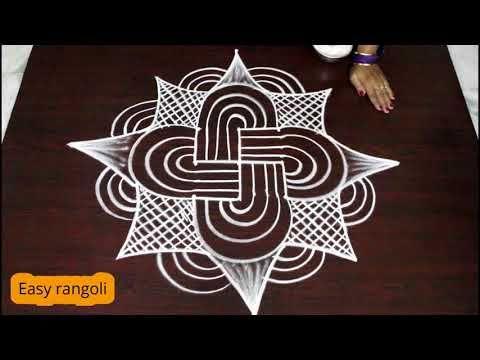 Unique Rangoli Design || Padi kolam with circular dots - YouTube