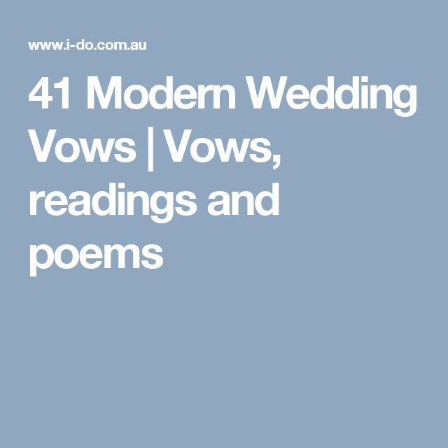 25+ Best Ideas About Modern Wedding Vows On Pinterest