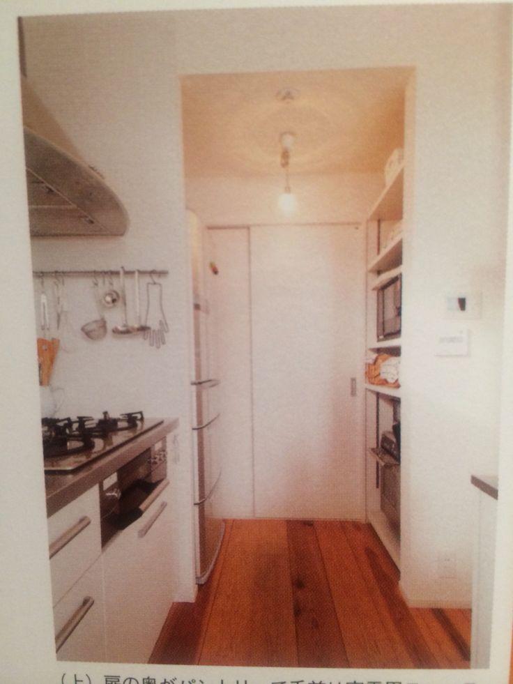 パントリー、キッチン家電置き場のアイディア