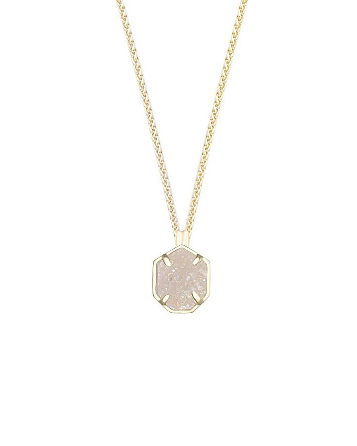 Oliver Gold Necklace in Iridescent Drusy - Kendra Scott Jewelry
