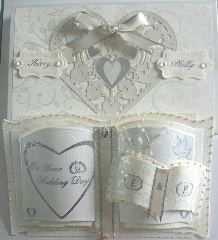 Wedding card made with bookatrix.