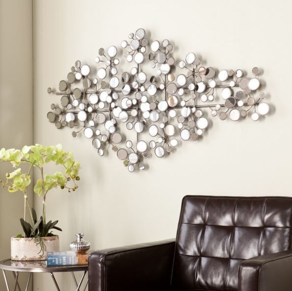 Best 25 circle metal wall art ideas on pinterest contemporary wall sculptures metal wall - Wall decor mirror home accents ...