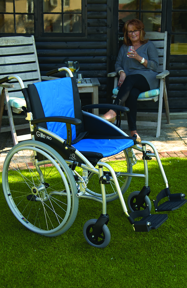 Representing excellent value for money the G-Lite Pro is a high quality self-propelled wheelchair that possesses a wide variety of features to ensure maximum comfort and safety.