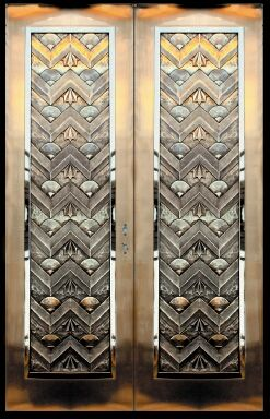 Wiemann Metalcraft fabricated these Art Deco door panels in bronze. & 89 best ART DECO Doors images on Pinterest | Windows Art deco art ...