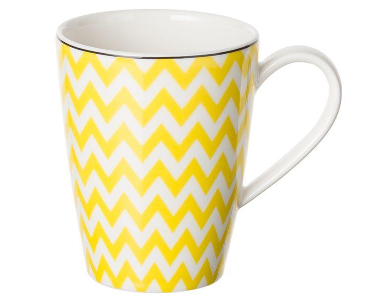 Ein Stück Fröhlichkeit! Die Tasse PANTONE mit frechem Zickzack-Muster zaubert Ihnen auch in den grauesten Morgenstunden ein Lächeln ins Gesicht. Aus bestem Porzellan gefertigt ist die Tasse PANTONE der perfekte Begleiter für den Alltag.