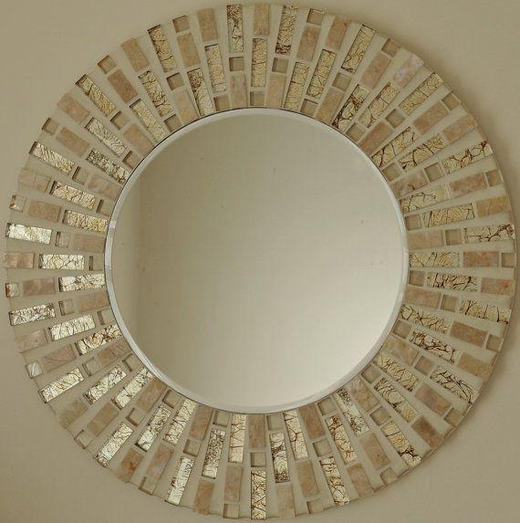 Buaitful mosaico hecho a mano del espejo por MirorMirorOnTheWall