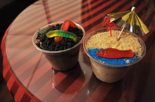 Sand Pudding Cups :) But maybe Golden Oreos instead of Nilla Wafers?
