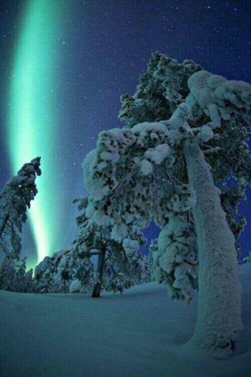 Aurora borealis, Sodankylä, Finland