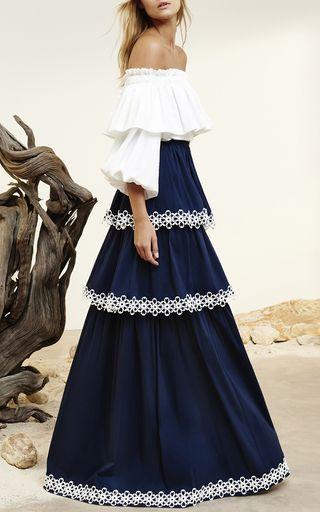 Kali Tiered Maxi Skirt by ALEXIS for Preorder on Moda Operandi