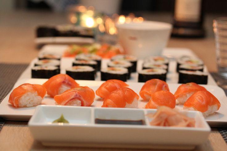 Sushi, oppskrift frå www.trinesmatblogg.no