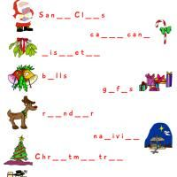 free printable holiday worksheets christmas worksheet complete the word