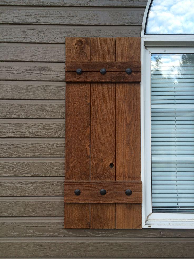 Best 25 Exterior Wood Shutters Ideas On Pinterest
