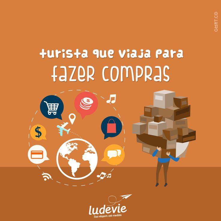 Turista que viaja para fazer compras  Viagem | Viajar | Travel | Frases de Viagem http://blog.ludevie.com.br