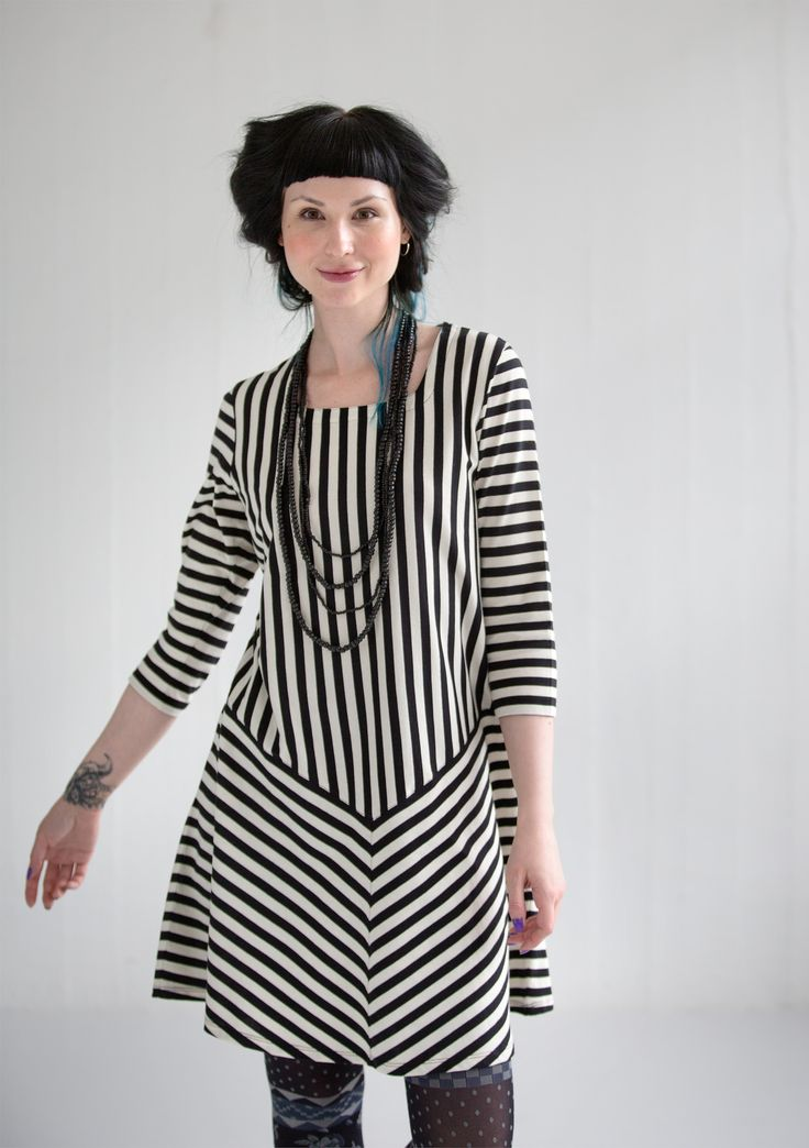 Striped dress in eco-cotton – Gudrun's green choices – GUDRUN SJÖDÉN – Webshop, mail order and boutiques | Colorful clothes and home textiles in natural materials.