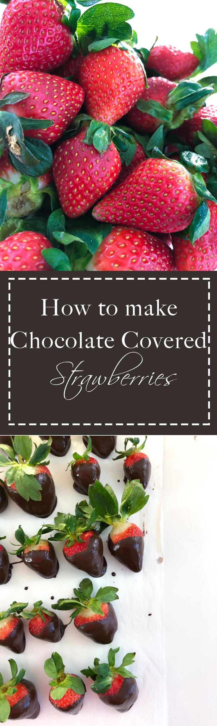 This one ingredient will transform your chocolate covered strawberries into a beautiful and shiny dessert perfect for your loved one on Valentines Day.