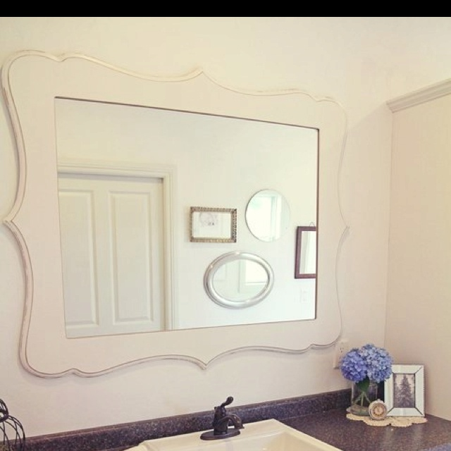 Loving this mirror for my bathroom using an Organic Bloom custom frame! Good thing I sell these! :)