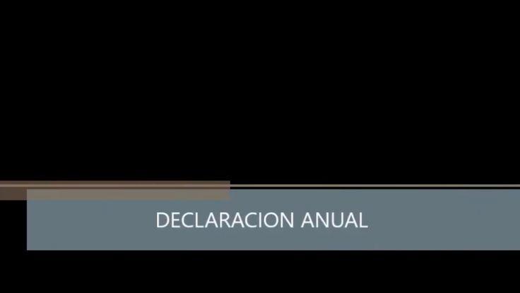 DECLARACION ANUAL