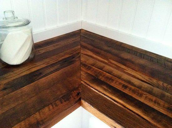 Reclaimed Wood Countertops.