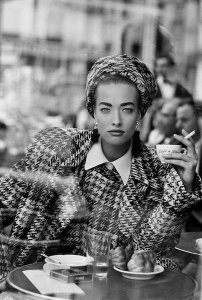 Peter Lindbergh, Tatjana Patitz, French Vogue, Cafe de flore 1-3 1985, Gelatin…
