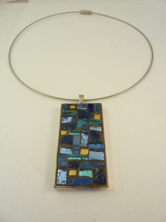 mosaic pendant di MOSAICANDARTS su Etsy