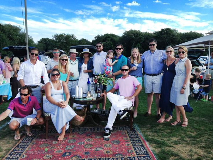 The winning picnic set-up at Newport Polo... Including newportFILM's very own Chauncey Tanton!
