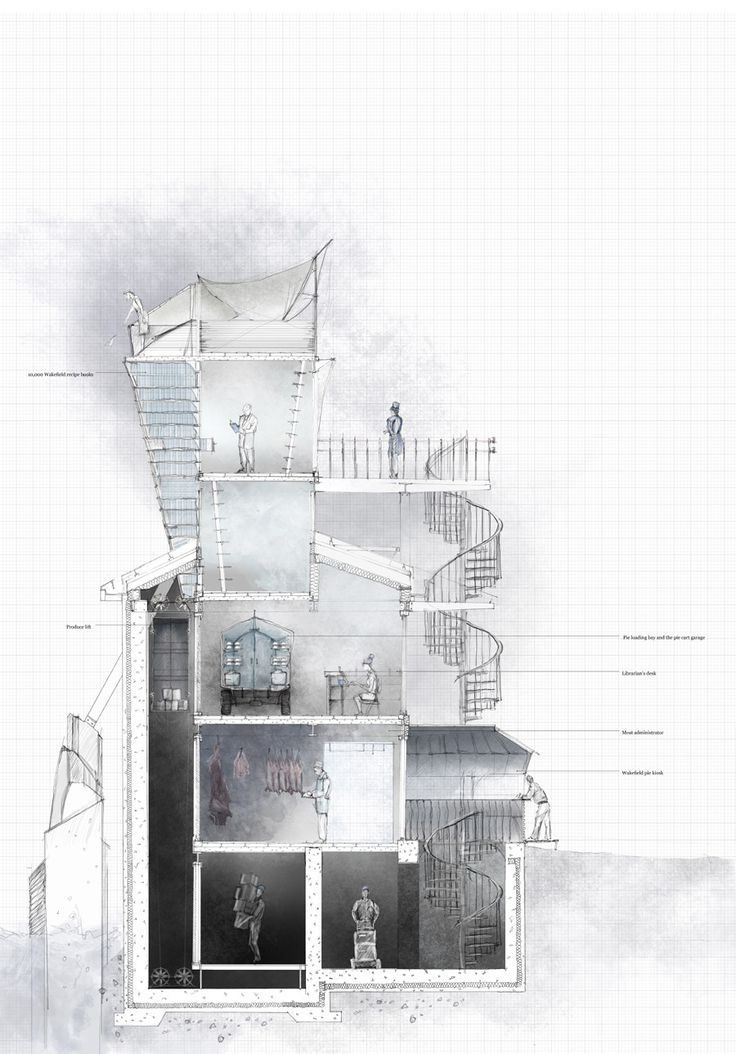 103 best architecture images on pinterest architecture drawings the pie factory final scheme james rennie malvernweather Choice Image