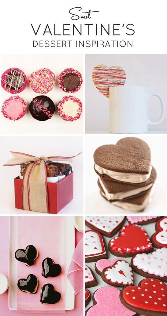 Charming #Valentine's treats for your sweetheart. Nothing says 'I Love You' like a cupcake, cookie or cake. Gooey, sweet and delicious!