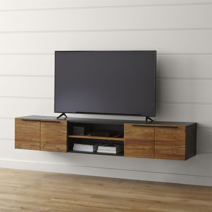 25 best ideas about floating tv stand on pinterest tv wall shelves tv shelf and tv wall decor for Floating tv stand living room furniture