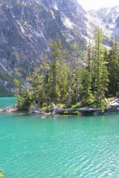 I've been here! Long hike but beautiful. Enchantment Lakes in Wenatchee National Forest in Washington.
