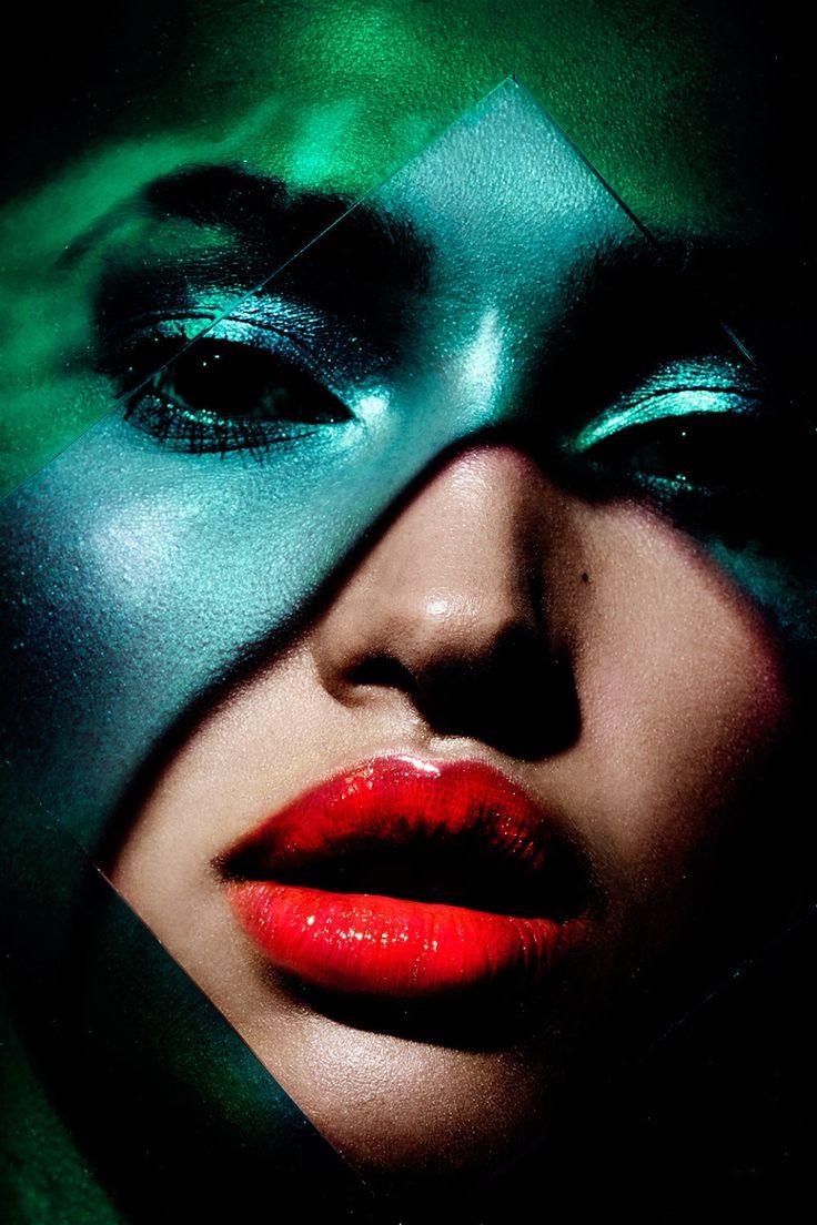 Plexiglass Graphic Colorful Beauty with model Camila Costa | NEW YORK FASHION BEAUTY