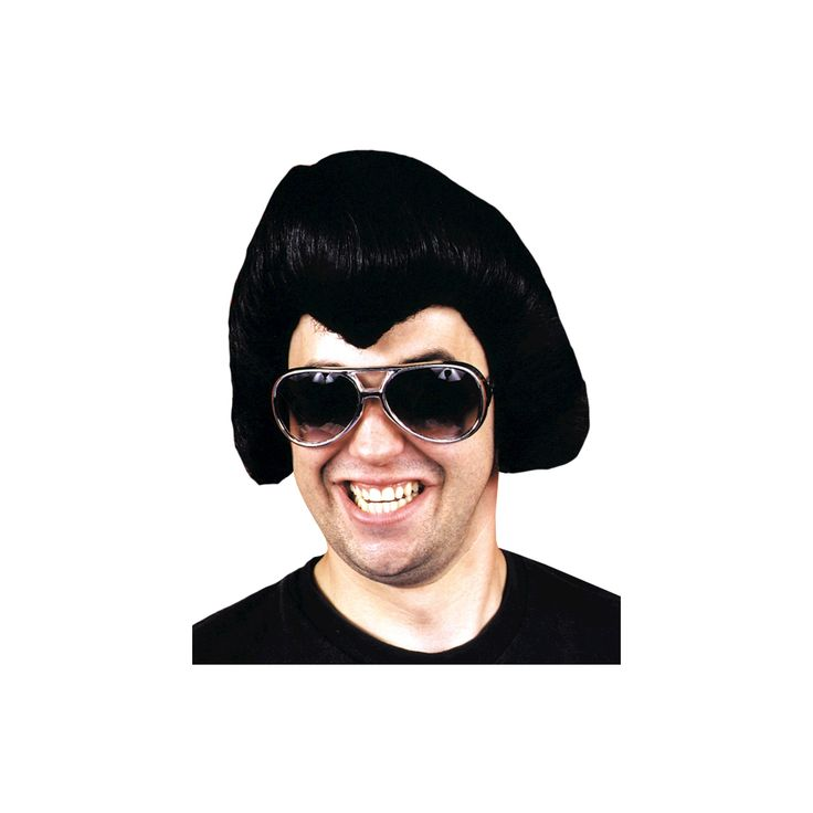 Halloween Rock Star Costume Wig Black - One Size Fits Most, Men's