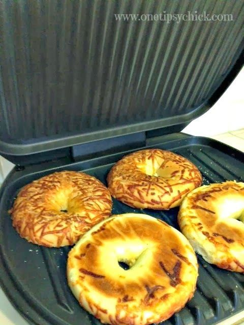 There is nothing like a grilled bagel. Soft and chewy and yummy! I will never toast them again. I use my George Foreman grill and I put the bagel half on the grill while it is heating up. It's ready in 3 or 4  minutes.