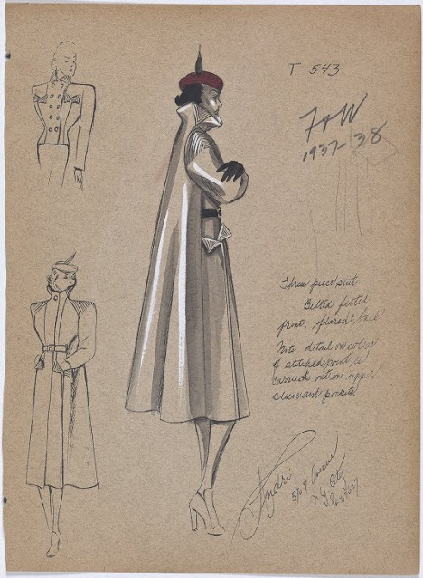 An incredible on line library of vintage fashion sketches. A must see.