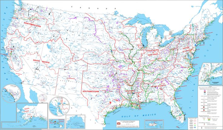 Us Navigable Waters Map United States Army Corps of Engineers map of the commercially
