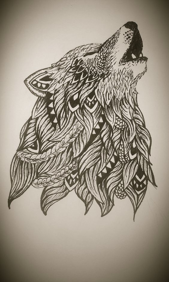 zentangle wolf wolf pinterest wolf tattoo and drawings. Black Bedroom Furniture Sets. Home Design Ideas