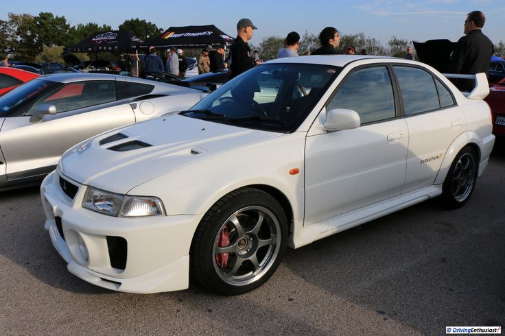 Mitsubishi Evolution V  . As shown at the November 2016 Cars and Coffee event in Austin TX USA.