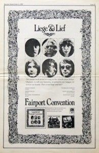 On January 17, 1970, Fairport Convention entered the bestsellers with the follow-up to 'Unhalfbricking' and another folk cornerstone, 'Liege & Lief.'