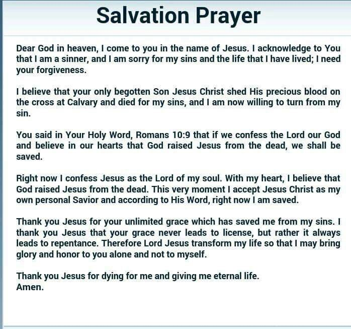 Christian Salvation Prayer Www Imgkid Com The Image