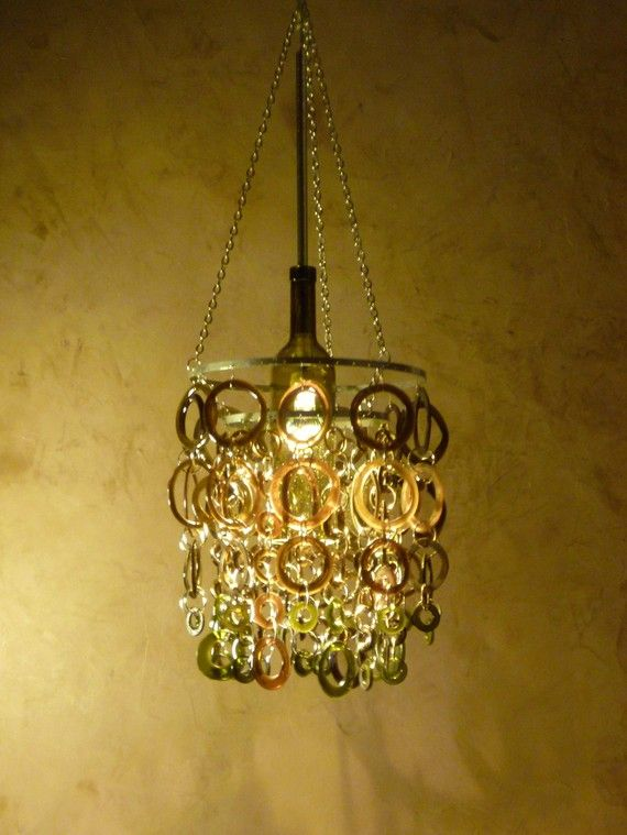 58 best recycled bottles images on pinterest bottle wall recycled bottles and cob houses - Glass bottle chandelier ...
