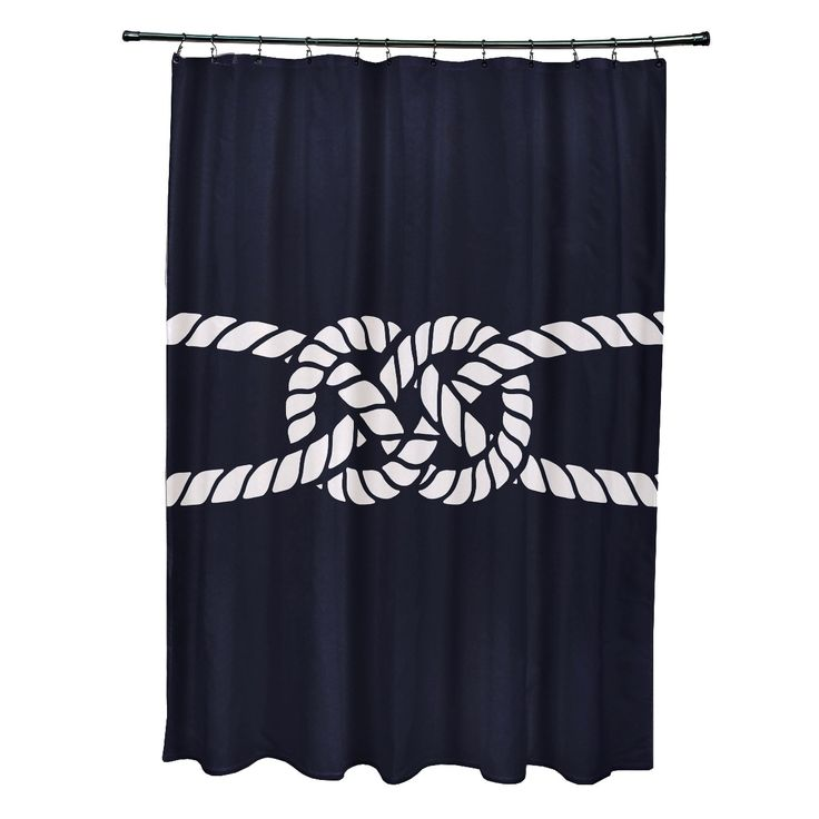 Simply Daisy X Carrick Bend Geometric Print Shower Curtain Red