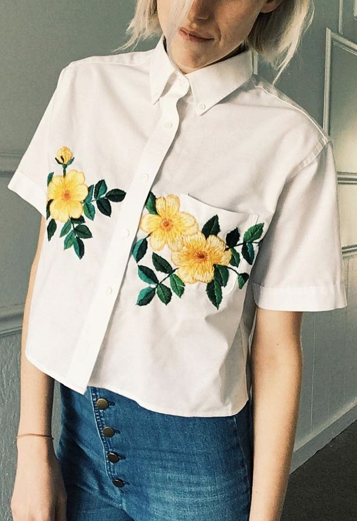 Upcycled Embroidered Blouse by Tessa Perlow on Etsy