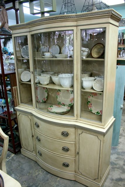 Old Ocher Painted Vintage Furniture