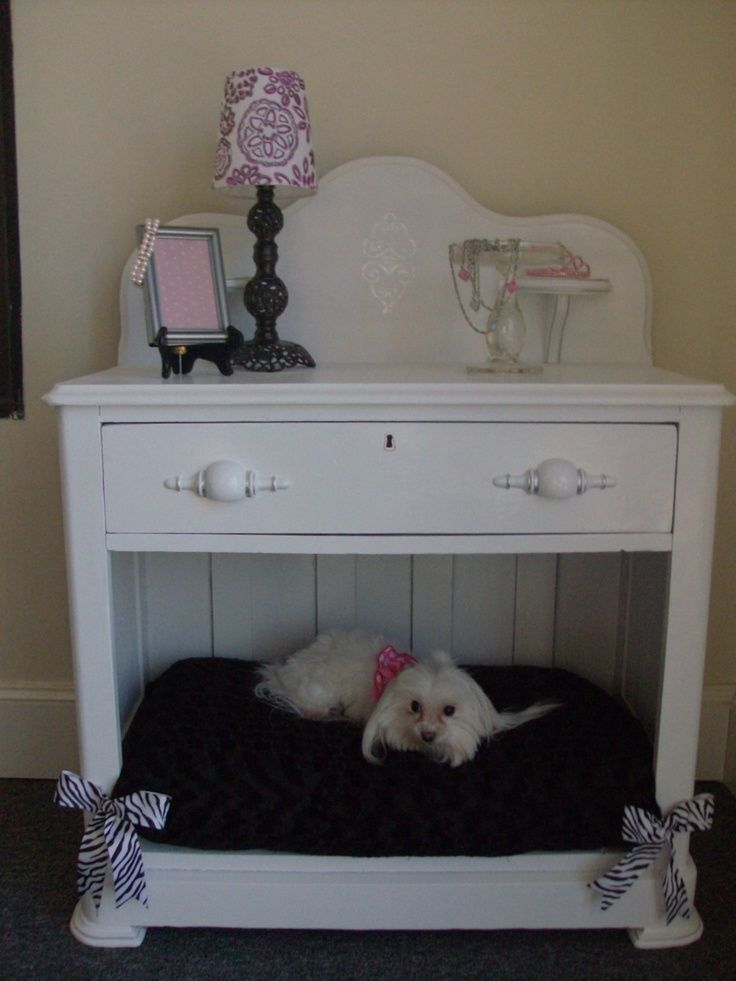 17 best images about bedside tables dog beds on pinterest for Making a dog bed out of a table