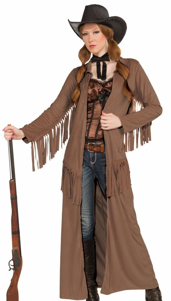 Womens Annie Oakley Cowgirl Halloween Costume Jacket Coat