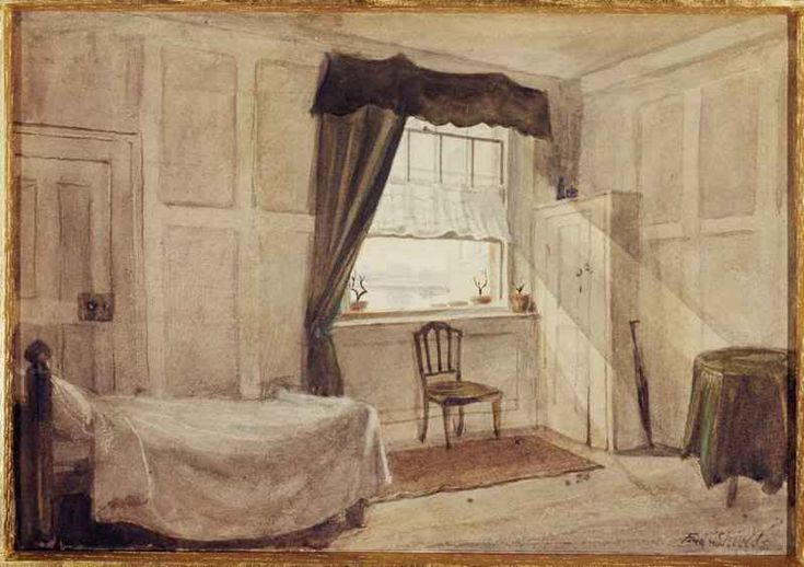 Frederick Shields, The Workroom and Deathroom of William Blake, 1880   http://petrusplancius.livejournal.com