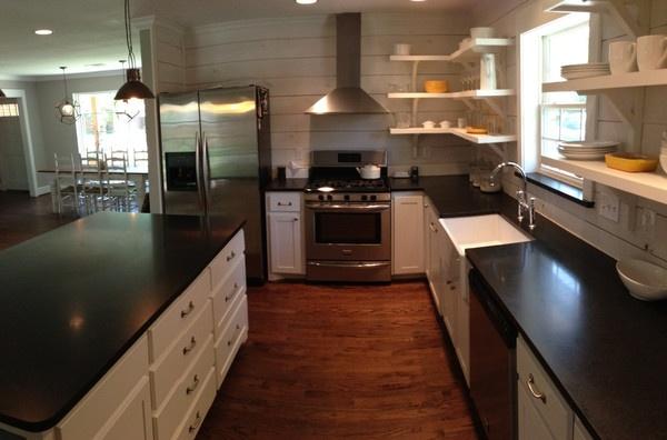Kitchen reno, open shelving    www.themagnoliamom.com    The Magnolia Mom - Joanna Gaines