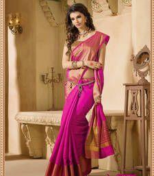 Buy Pink Zari Silk saree with blouse banarasi-silk-saree online
