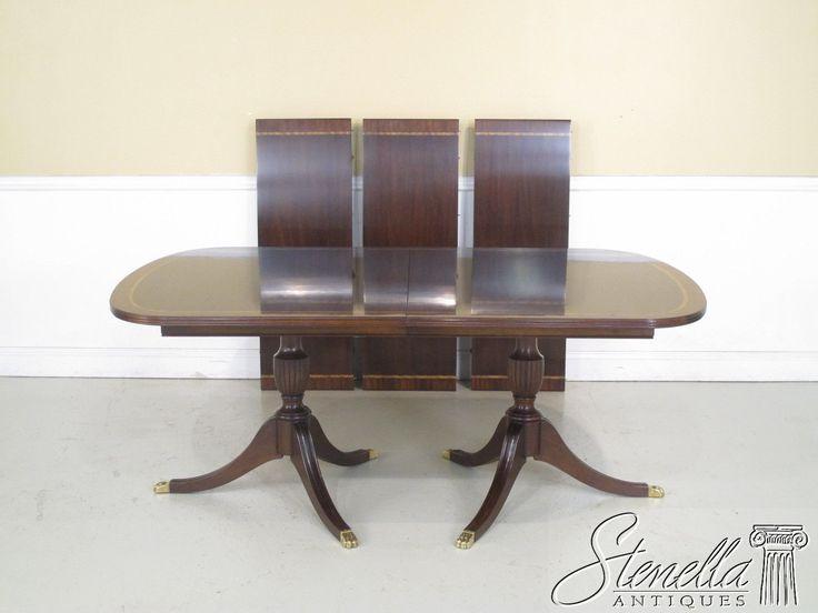 38253: HENKEL HARRIS Model #2207 Banded Mahogany Dining Room Table ~ New Part 65