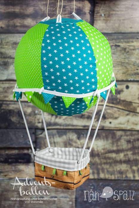 Adventskalender -Adventsballon- (Nähanleitung und Schnittmuster von shesmile) hier genäht vom Nähspatz.